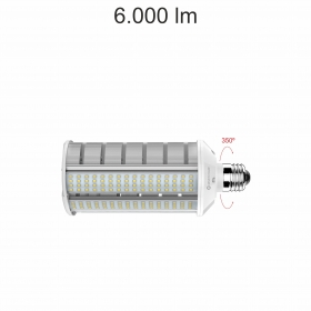 SMILE ALUMINIUM 40W E27 100-240V 120º LED (NUOVO ARRIVO) - Illuminotecnica-Led